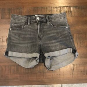 Stonewash grey shorts